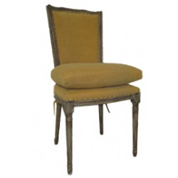 Chaise jaune or