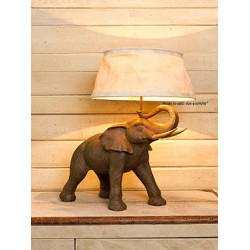 LAMPE ELEPHANT RESINE...