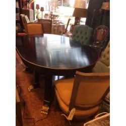TABLE ART DECO NOIRE Ronde...