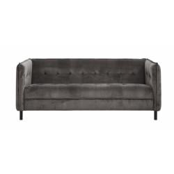 Très beau canapé en velours et pieds métal