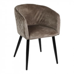 Chaise en velour taupe