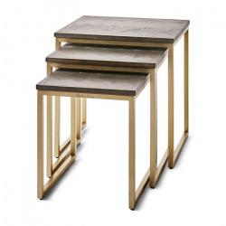 Table gigogne en bois set...