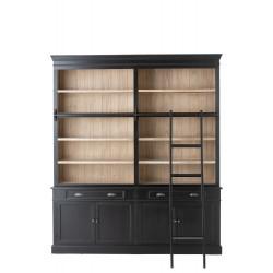 Bibliothèque bois et noire