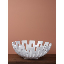Corbeille ceramique blanche...