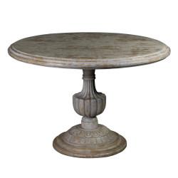 Table ronde en bois grisé...