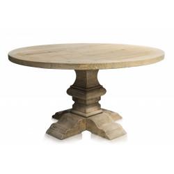 Table ronde en pin de 150 CM