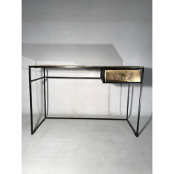BUREAU EN METAL COULEUR OR...